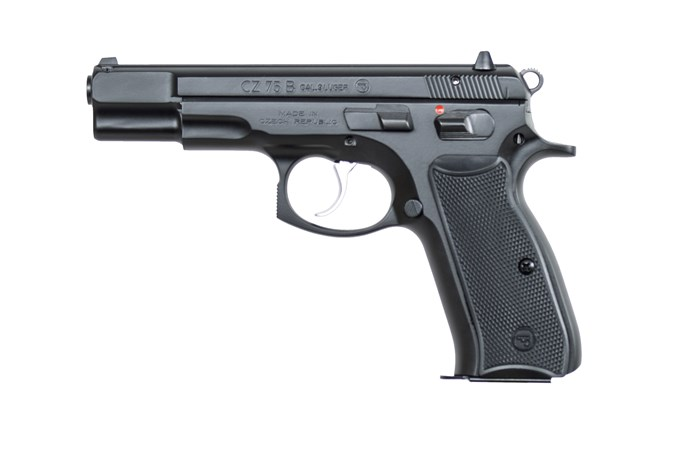 """CZ-USA CZ 75 BD 9mm Semi-Auto Pistol - Item #: CZ01102 / MFG Model #: 01102 / UPC: 806703011028 - 75B 9MM BLACK 4.6"""" 10+1 FS"""