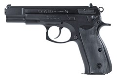 "CZ-USA CZ 75BD 9mm  Item #: CZ01130 / MFG Model #: 01130 / UPC: 806703011301 75BD 9MM BLACK 4.6"" 10+1 FS DECOCKER"