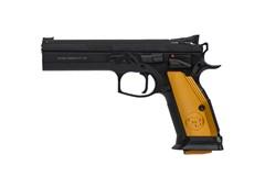 """CZ-USA CZ 75 Tactical Sport Orange 40 S&W  Item #: CZ01260 / MFG Model #: 01260 / UPC: 806703012605 75 TACT ORANGE 40SW 10+1 5.4"""" ORANGE GRIPS"""