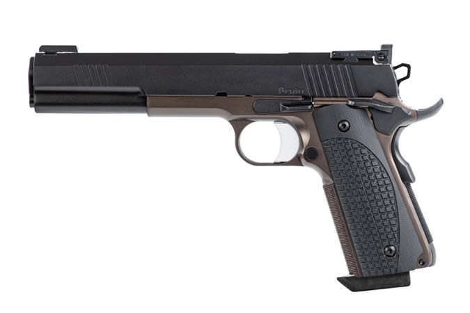 "CZ-USA Dan Wesson Bruin 10mm Semi-Auto Pistol - Item #: CZ01841 / MFG Model #: 01841 / UPC: 806703018416 - DW BRUIN 10MM 2-TONE 6"" 8+1 BRONZE/BLACK 2-TONE"