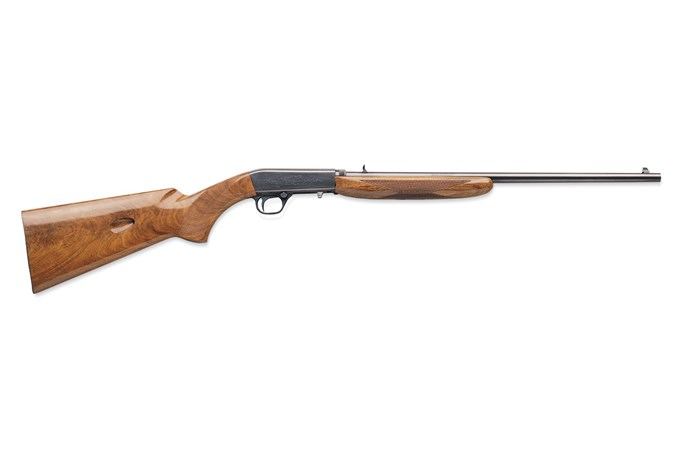Browning Semi-Auto 22 Grade I Wood 22 LR Rifle - Item #: BR021-001102 / MFG Model #: 021001102 / UPC: 023614025559 - SEMI-AUTO 22LR BL/WD 14062