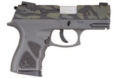 "Taurus TH9 9mm  Item #: TATH9GRYBC / MFG Model #: 1-TH9041G-LBC / UPC: 725327933465 TH9 9MM CAMO/GRAY 4.3"" 17+1 MS 1-TH9041G-LBC | MANUAL SAFETY"