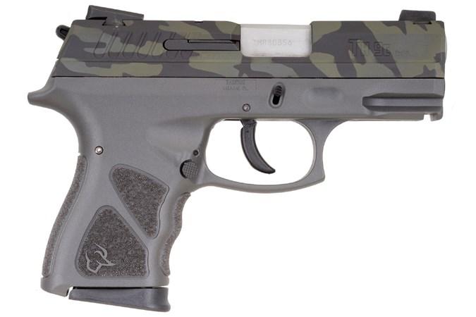 "Taurus TH9 Compact 9mm Semi-Auto Pistol - Item #: TATH9CGRYBC / MFG Model #: 1-TH9C031G-LBC / UPC: 725327933502 - TH9 COMPACT 9MM CAMO/GRAY 17+1 1-TH9C031G-LBC|SAFETY|3.5"" BBL"