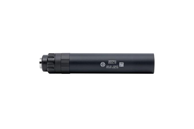 Gemtech GM-45 45 ACP NFA - Silencer - Item #: GT34818 / MFG Model #: 12125 / UPC: 609224348181 - GM-45 45ACP BLK SILEN 578-28 # 12125|LINEAR INERTIAL DECOUPLR