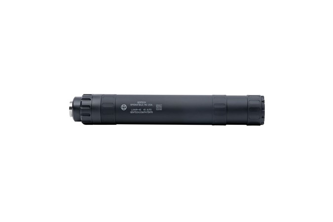 Gemtech Lunar-45  NFA - Silencer - Item #: GT34698 / MFG Model #: 12126 / UPC: 609224346989 - LUNAR-45 45ACP BLACK 578-28 12126 | MODULAR 45 SUPPRESSOR