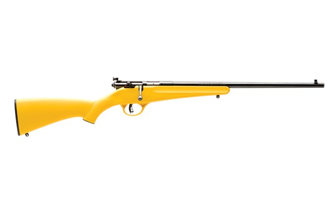 Savage Arms Rascal 22 LR Rifle - Item #: SVRASCALYELLOW / MFG Model #: 13805 / UPC: 062654138058 - RASCAL 22LR SGL-SHT YTH YELLOW 13805|SINGLE SHOT ACCUTRIGGER