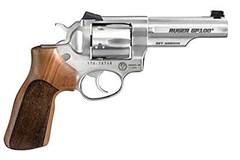 Ruger GP100 357 Magnum | 38 Special  Item #: RUKGP141MCF / MFG Model #: 1754 / UPC: 736676017546 GP100 MATCH CHAMP 357MAG SS FS 1754 |HVY HALF LUG BBL/WD GRIP