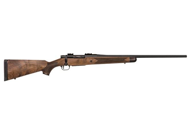 "Mossberg Patriot Revere Rifle 243 Win Rifle - Item #: MB27986 / MFG Model #: 27986 / UPC: 015813279864 - PATRIOT REVERE 243WIN BL/WD  # 24"" BBL PREMIERE GRADE WALNUT"