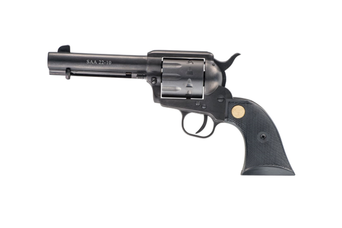 "Chiappa Firearms 1873-22 Single-Action Revolver 22 LR Revolver - Item #: CI340.155 / MFG Model #: 340.155 / UPC: 8053670710177 - CHIAPPA SAA 22-10 22LR 4.75"" 340.155 10RD CYLINDER"