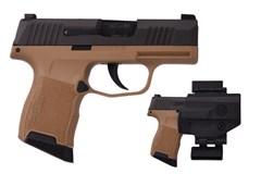 LIPSEY'S EXCLUSIVE SIG SAUER P365 9mm  Item #: SI3659BXR3VP / MFG Model #: 365-9-BXR3-VP / UPC: 798681615797 P365 9MM BK/FDE 10+1 XRAY PCK 365-9-BXR3-VP  VALUE PACK