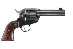 "LIPSEY'S EXCLUSIVE Ruger Vaquero 357 Magnum   9mm  Item #: RUNV34X / MFG Model #: 5161 / UPC: 736676051618 VAQUERO 357M/9MM BL 4-5/8"" FS 5161 SMALL FRAME/XR3 GRIPFRAME"