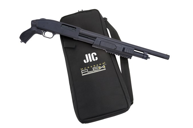Mossberg 500 J.I.C. (Just In Case) 12 Gauge Shotgun - Item #: MB57340 / MFG Model #: 57340 / UPC: 015813573405 - 500 JIC FLEX 12/18.5 PG MATTE 500 J.I.C.