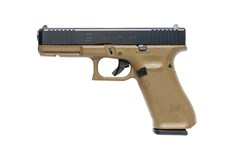 "LIPSEY'S EXCLUSIVE GLOCK G17 G5 9mm  Item #: GLPA175S201DE / MFG Model #: PA175S201DE / UPC: 764503038228 G17 G5 9MM 10+1 4.49"" FS FDE 3-10RD MAGS 