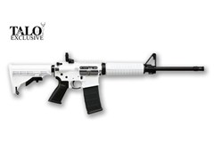 TALO EXCLUSIVE Ruger AR-556 223 Rem | 5.56 NATO  Item #: RUAR-556-BW / MFG Model #: 8519 / UPC: 736676085194 AR-556 5.56MM WHITEOUT 30+1 8519 FORWARD ASSIST/DUST COVER