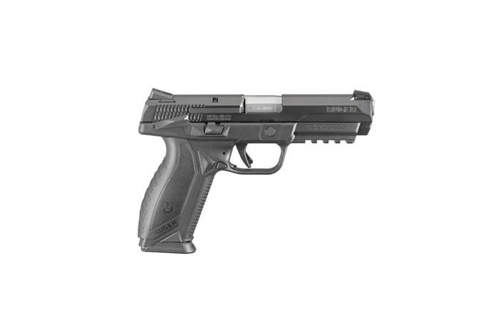 "Ruger American Pistol 45 ACP Semi-Auto Pistol - Item #: RUA45DUTYMS10MA / MFG Model #: 8680 / UPC: 736676086801 - AMERICAN 45ACP 4.5"" 10+1 MASS 8680|MANUAL SAFETY|MASS COMPLY"