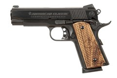 American Classic American Classic Commander 45 ACP  Item #: ACC45B / MFG Model #: ACC45B / UPC: 094922351975 COMMANDER 1911 45ACP BLUE 8+1 CHECKERED WOOD GRIPS
