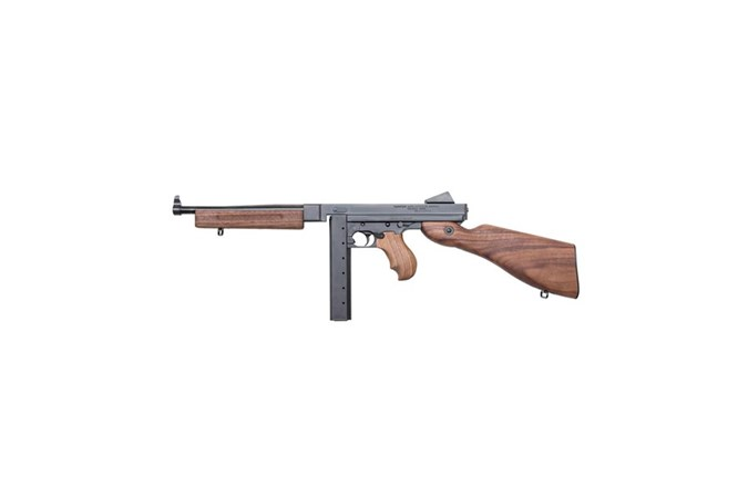 "Auto-Ordnance - Thompson M1 Carbine 45 ACP NFA - Short Barrel Rifle - Item #: AOTM1SB / MFG Model #: M1SB / UPC: 602686281003 - THOMPSON M1 SBR 45CAL 10.5"" 30+1"
