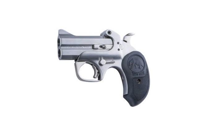 "Bond Arms Papa Bear 410 Bore | 45 Colt Specialty Handgun - Item #: BAPB45/410 / MFG Model #: BAPB45/410 / UPC: 855959009594 - PAPA BEAR 45LC/410 SS 3"" EXTENDED BLACK RUBBER GRIPS"