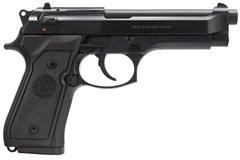 """Beretta M9 9mm  Item #: BEJ92M9A0CA / MFG Model #: J92M9A0CA / UPC: 082442884967 92 M-9 9MM BL/SY 4.9"""" 10+1 CA CALIFORNIA COMPLIANT MODEL"""