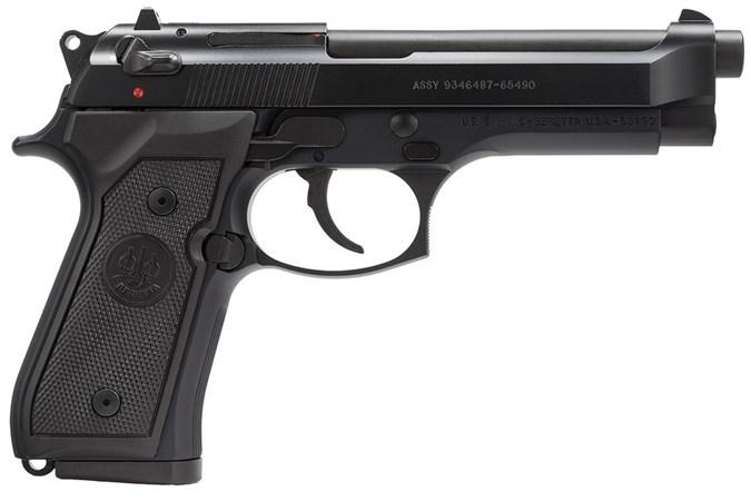 """Beretta M9 9mm Semi-Auto Pistol - Item #: BEJ92M9A0CA / MFG Model #: J92M9A0CA / UPC: 082442884967 - 92 M-9 9MM BL/SY 4.9"""" 10+1 CA CALIFORNIA COMPLIANT MODEL"""
