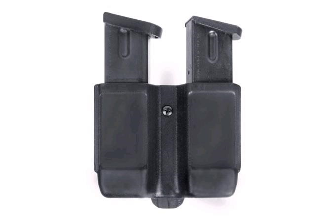 BLACKHAWK! Single Stack Double Mag Case  Accessory-Magazine Pouches - Item #: BL410510PBK / MFG Model #: 410510PBK / UPC: 648018127267 - SINGLE STACK DOUBLE MAG CASE MATTE BLACK/FOR 9MM/40 CAL