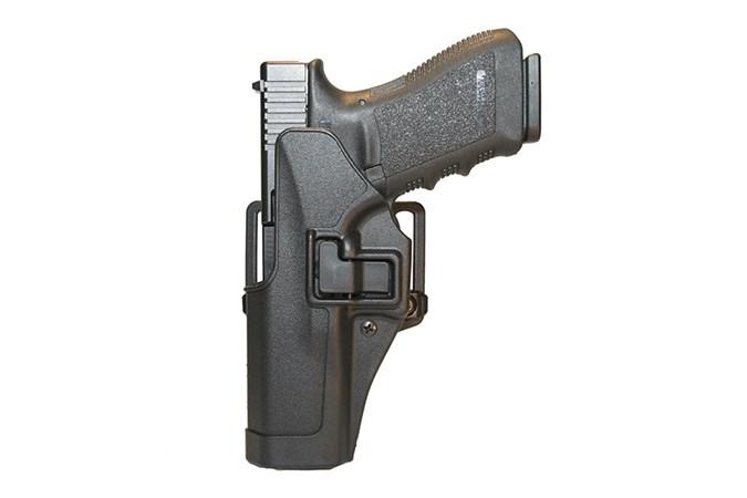 BLACKHAWK! Serpa CQC Holster  Accessory-Holsters - Item #: BL410513BK-L / MFG Model #: 410513BK-L / UPC: 648018014918 - SERPA CQC GLK 20/21/37/MP45 LH LEFT HAND MODEL