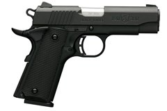 Browning 1911-380 380 ACP  Item #: BR051-905492 / MFG Model #: 051905492 / UPC: 023614044468 1911-380 380ACP CMPT BLK/POLY MANUAL THUMB SAFETY