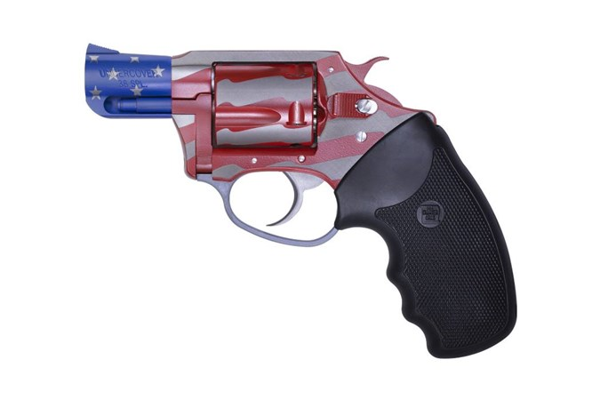 """Charter Arms Old Glory 38 Special Revolver - Item #: CH23872 / MFG Model #: 23872 / UPC: 678958238723 - OLD GLORY 38SPC RED/WHT/BL 2"""" RUBBER GRIPS 2"""" 5 SHOT"""