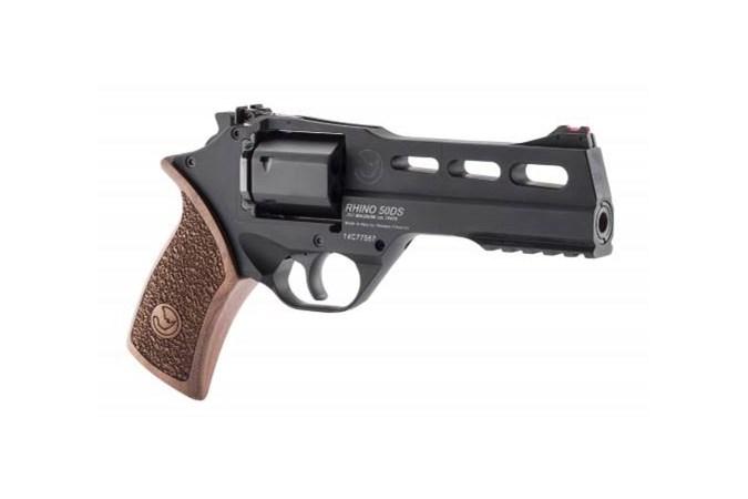 "Chiappa Firearms Rhino 50DS 9mm Revolver - Item #: CI340.245 / MFG Model #: 340.245 / UPC: 8053670717190 - RHINO 50DS 9MM 5"" BLK ADJ 340.245"
