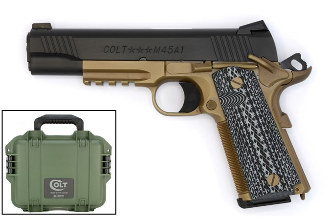 "Colt Custom Shop CQB Pistol 45 ACP Semi-Auto Pistol - Item #: COO1070CQB-FB / MFG Model #: O1070CQB-FB / UPC: 098289111784 - CQB GOV CUST 45ACP BLK/FDE 5"""