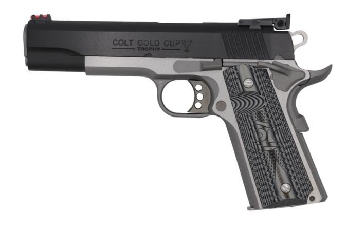 Colt Gold Cup Lite 38 Super Semi-Auto Pistol - Item #: COO5073GCL-TT / MFG Model #: O5073GCL-TT / UPC: 098289112163 - GOLD CUP LITE 38SPR TWO-TONE G10 GRIPS | ADJUSTABLE SIGHTS