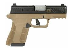 "Diamondback Firearms AM29 9mm  Item #: DBAM29FDE / MFG Model #: DBAM29FDE / UPC: 815875014683 AM2 9MM FDE SUB CMPT 15+1 3.5"" FDE FRAME/BLACK SLIDE"