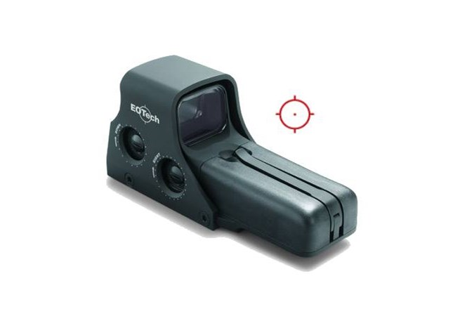 EO Tech Model 512  Accessory-Lasers and Sights - Item #: EO512A65/1 / MFG Model #: 512.A65 / UPC: 672294512653 - EOTECH 510 MODEL 512 AA-BATTRY HOLOGRAPHIC WEAPON SIGHT