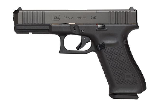 "GLOCK G17 G5 MOS 9mm Semi-Auto Pistol - Item #: GLPA1756203MOS / MFG Model #: PA1756203MOS / UPC:  - G17 G5 9MM 17+1 4.49"" MOS FS # 3-17RD MAGS"