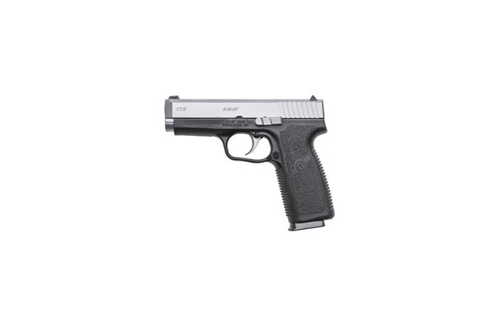 "Kahr Arms CT9 9mm Semi-Auto Pistol - Item #: KACT9093N / MFG Model #: CT9093N / UPC: 602686087391 - CT9 9MM SS/BLK 3.96"" 8+1 NS FRONT NIGHT SIGHT"