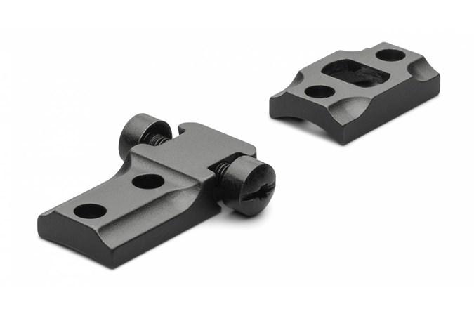 Leupold STD Weatherby Mark V 2-pc  Accessory-Rings/Mounts/Bases - Item #: LP51701 / MFG Model #: 51701 / UPC: 030317517014 - BASE STD WBY MARK V 2-PC MTE WEATHERBY | MATTE BLACK