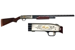 TALO EXCLUSIVE Mossberg 500 Centennial Limited Edition 12 Gauge  Item #: MB50100 / MFG Model #: 50100 / UPC: 015813501002 500 CENTENNIAL LTD ED 12/28 LIMITED EDITION | 1 OF 750
