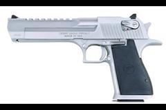 Magnum Research Desert Eagle 357 Magnum  Item #: MRDE357BC / MFG Model #: DE357BC / UPC: 761226024217 DESERT EAGLE 357M BRUSH CHROME BRUSHED CHROME BLK RUBBER GRIP