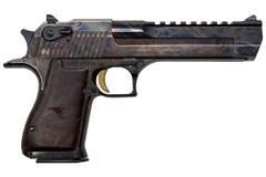 "Magnum Research Desert Eagle Mark XIX 357 Magnum  Item #: MRDE357CH / MFG Model #: DE357CH / UPC: 761226088417 DESERT EAGLE 357MAG CCH/WD 6"" CASE HARDENED W/WALNUT GRIPS"