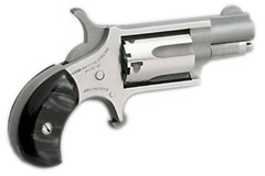 LIPSEY'S EXCLUSIVE North American Arms Mini-Revolver 22 LR  Item #: NONAA22LRGPB / MFG Model #: NAA-22LR-GP-B / UPC: 744253001062 MINI 22LR REV 1-1/8 SS BLK PRL NAA-22LR-GP-B|PEARLITE GRIPS