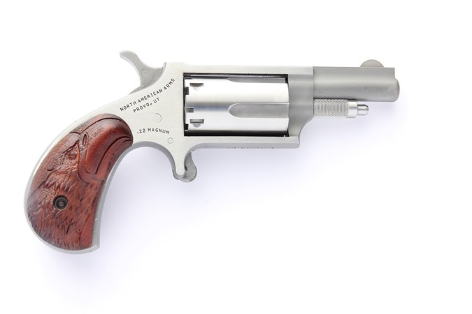 "North American Arms Mini-Revolver Convertible 22 LR | 22 Magnum Revolver - Item #: NONAA-22MC-BWGE / MFG Model #: NAA-22MC-BWGE / UPC: 744253002571 - MINI 22LR/22M 1-5/8"" EAGLE GRP EAGLE HEAD GRIP/HOLSTER"