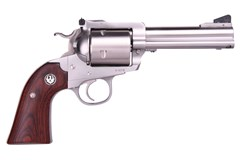 "LIPSEY'S EXCLUSIVE Ruger Super Blackhawk Bisley 454 Casull  Item #: RUKRBS-4-454 / MFG Model #: 0873 / UPC: 736676008735 BISLEY 454 CASULL SS 4-5/8"" AS 0873 WOOD GRIPS / UNFLUTED CYL"