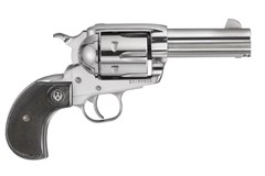 TALO EXCLUSIVE Ruger Vaquero Birds Head 44 Magnum | 44 Special  Item #: RUKBNVBH443 / MFG Model #: 10596 / UPC: 736676105960 VAQUERO BRDS HD 44MAG SS/LAM 10596 | BLK CHECKERED GRIPS