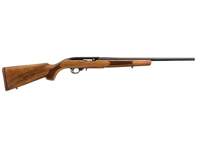 "Ruger 10/22 Sporter 22 LR Rifle - Item #: RU1022RCAB / MFG Model #: 11165 / UPC: 736676111657 - 10/22 22LR BL/FRENCH WALNUT 11165  20"" BARREL/NO SIGHTS"