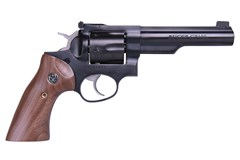 "LIPSEY'S EXCLUSIVE Ruger GP100 357 Magnum | 38 Special  Item #: RUGP35751 / MFG Model #: 1768 / UPC: 736676017683 GP100 357MAG BLUE 5"" HALF LUG 1768 ADJ SGTS/WALNUT GRIPS"