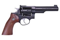 "LIPSEY'S EXCLUSIVE Ruger GP100 327 Federal Magnum  Item #: RUGP32751 / MFG Model #: 1769 / UPC: 736676017690 GP100 327FED BLUE 5"" HALF LUG 1769 ADJ SGTS/WALNUT GRIPS"