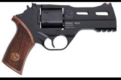"Chiappa Firearms Rhino 40DS 357 Magnum | 38 Special  Item #: CI340.219 / MFG Model #: 340.219 / UPC: 8053670712140 RHINO 40DS 357MAG 4"" BLK ADJ 340.219 WALNUT GRIPS"