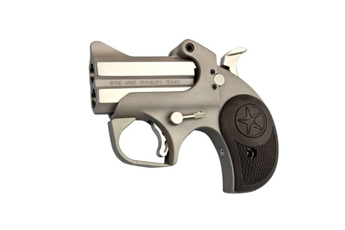 "Bond Arms Rowdy 410 Bore | 45 Colt Specialty Handgun - Item #: BARW45/410 / MFG Model #: BARW-45/410 / UPC: 855959009983 - ROWDY 45LC/410 SS 3"" FS BLACK RUBBER GRIPS"