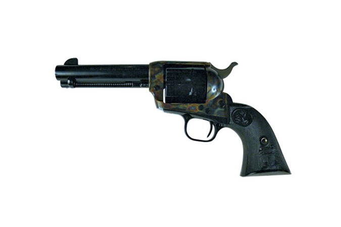 """Colt Single Action Army 45 Colt Revolver - Item #: COP1840 / MFG Model #: P1840 / UPC: 098289009012 - SGL ACT ARMY 45LC CCH 4.75"""""""