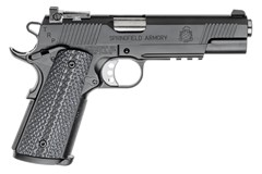 "Springfield Armory TRP Operator 45 ACP  Item #: SFPC9105L18 / MFG Model #: PC9105L18 / UPC: 706397919481 1911 45 TRP OPRTR BLK ADJ NS 5"" BBL / FULL SIZE GRIP 7+1"